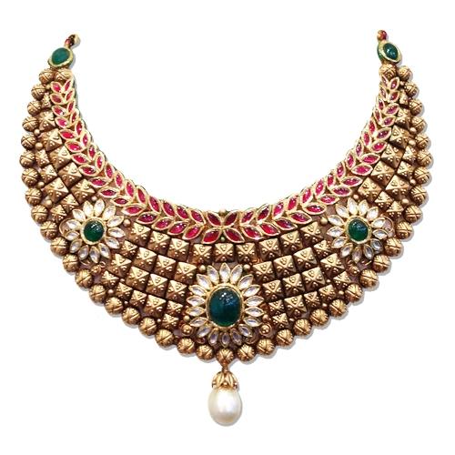 Kundan polki necklace set in delhikundan polki jewellery wholesaler kundan polki jewellery aloadofball Choice Image